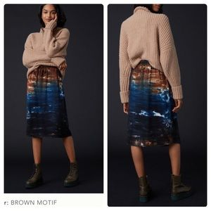 Anthropologie cloth & stone Kira tie dye skirt